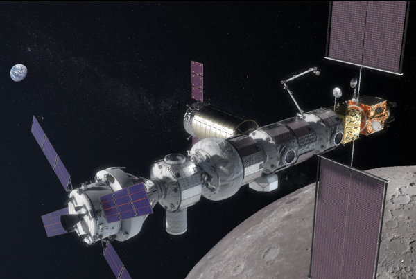 Artist rendering of the Gateway CREDIT/NASA