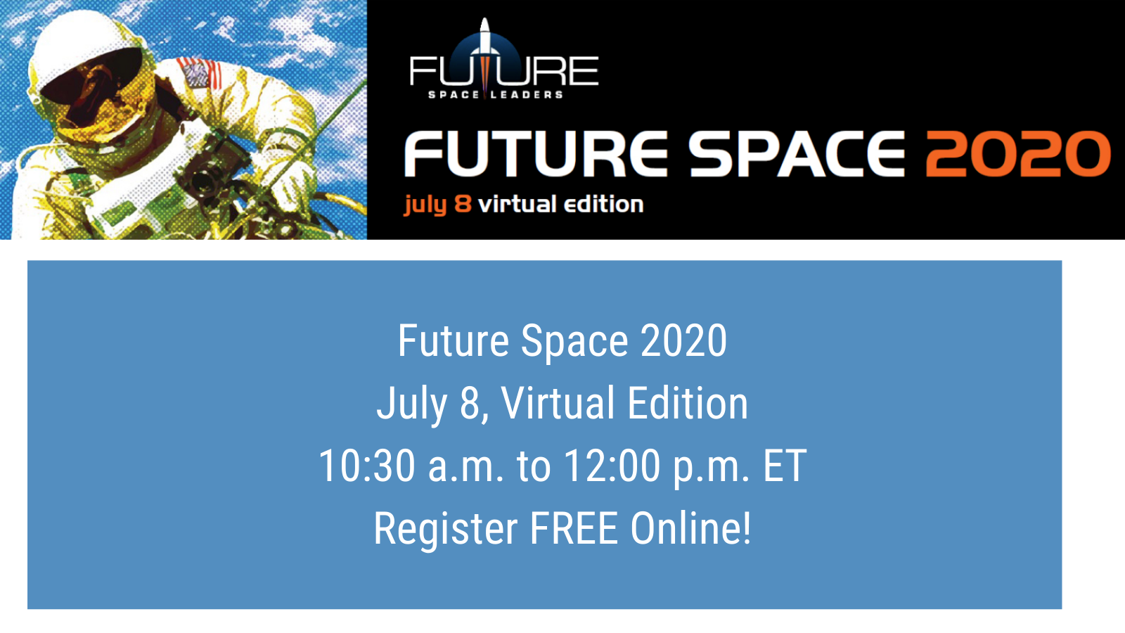 Future Space 2020 – Register Now!