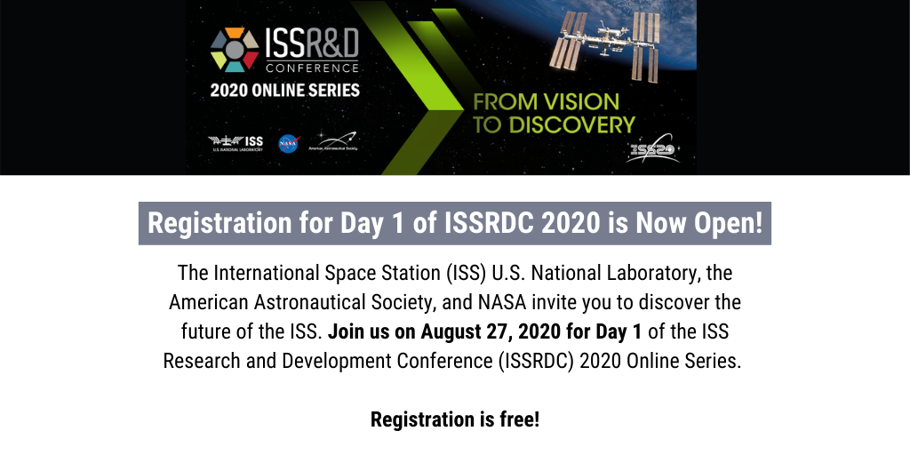 Registration for Day 1 of ISSRDC 2020 is Now Open!