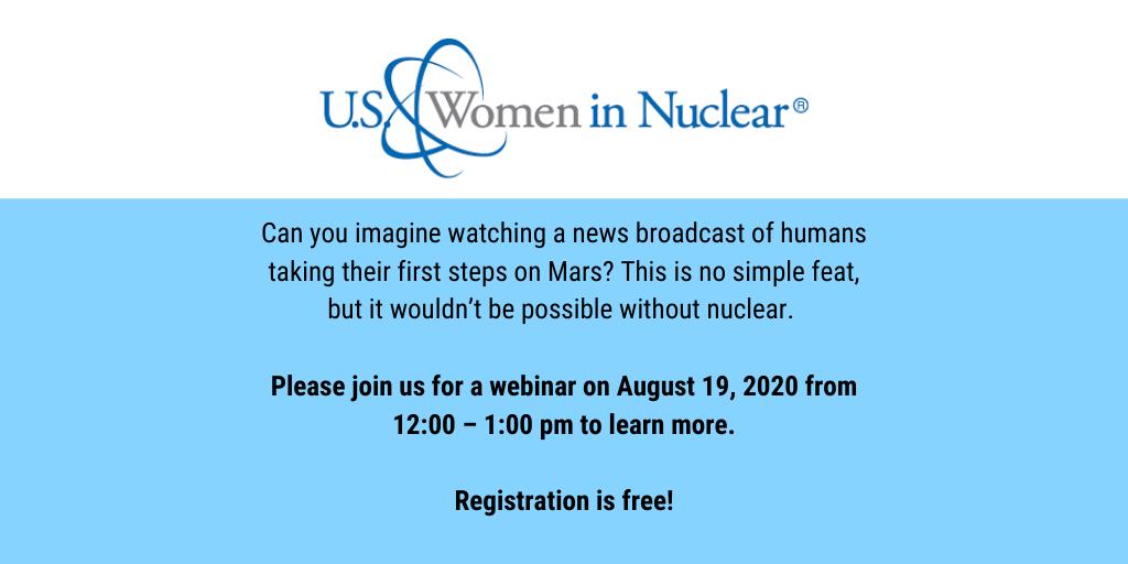 Women In Nuclear – August 19, 2020